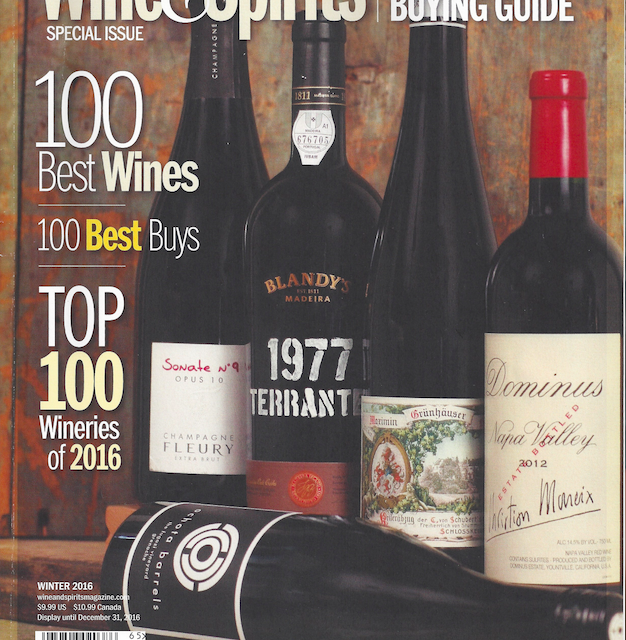 Chanin named in the Top 100 wineries , second year in row, by Wine & Spirits!